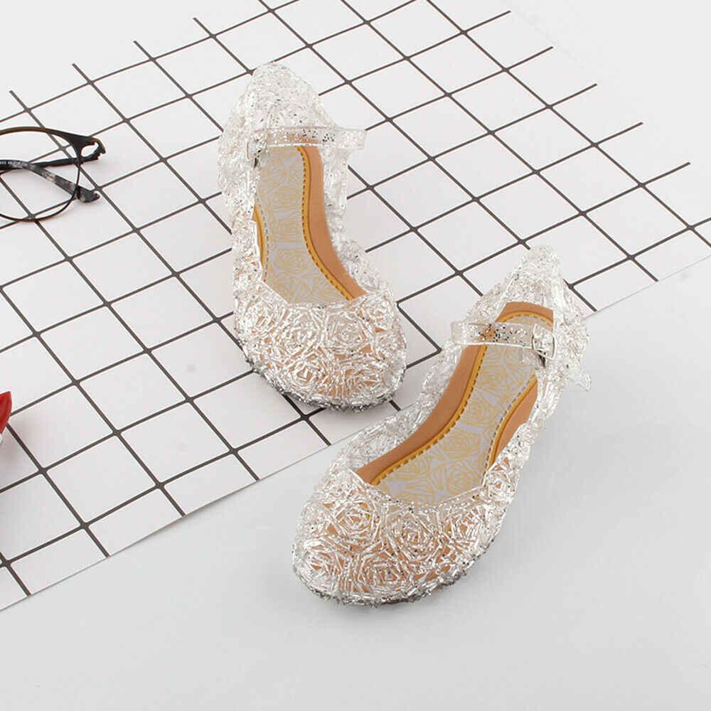 ยี่ห้อใหม่รองเท้าแตะเด็กเด็กสาวคริสตัล Jelly Princess Frozen Party รองเท้า PVC ฤดูร้อนสบายๆแฟชั่น 2019