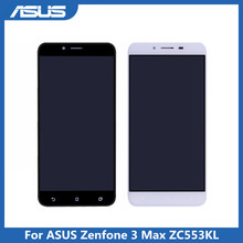 Digitalizador de tela touch screen de lcd asus, display original, zc553kl, montagem de substituição para asus zenfone 3 max zc553kl x00dd