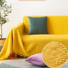 Couverture épaisse Anti-poussière pour canapé et lit, tissu Simple anti-boulochage pour salon