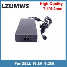 LZUMWS 180W 19 5V 9 23A 7 4*5 0mm zasilacz do laptopa do Dell Precision M4600 M4700 M4800 obsługi Alienware 13 R3 ładowarka DA18 tanie tanio CN (pochodzenie) 19 5 v Dla dell SA-1807450 black Square Charger For DELL Portable Charger For DELL Portable Adapter For DELL