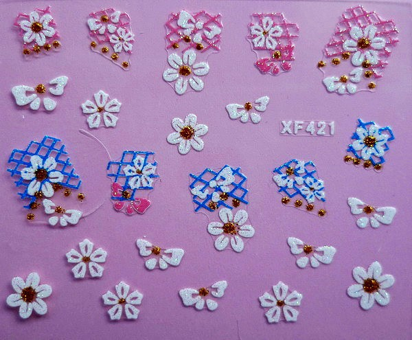 XF Nail Sticker 3D Nail Sticker Lace Nail Sticker Thousands-Selectable Recruit Agents XF421