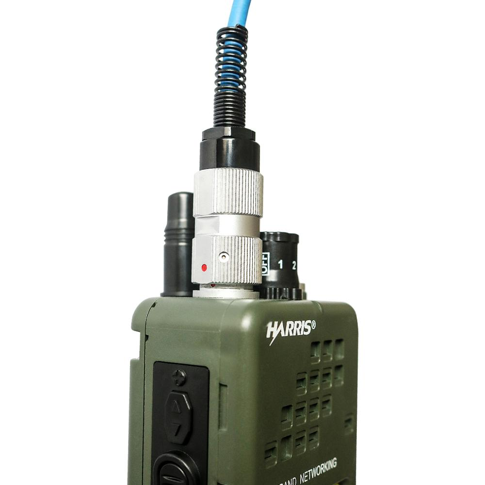 Купить с кэшбэком Tactics PRC-152 PRC 152 Harris Dummy Radio Case ,Military Talkie-Walkie Model for Baofeng Radio,No Function+ Peltor 6 Pin PTT
