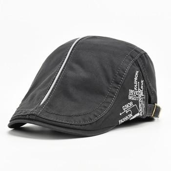 Fashion Summer Letter Beret Hats For Men Women Newsboy Caps Ivy Flat Brim Duckbill Cap Sun Hat Casual Visor Hat casquette