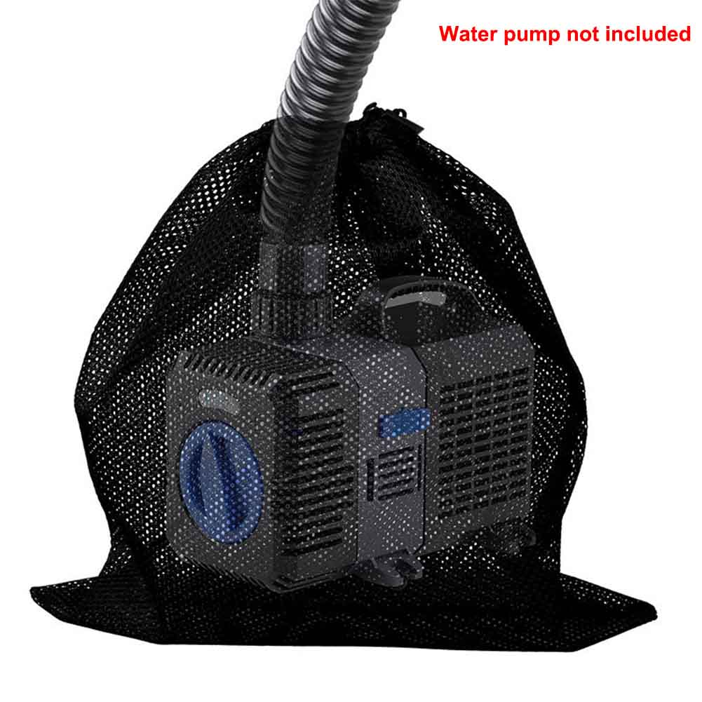 Anti Clogging Fish Tank With Drawstring Filter Bag Pond Tear Resistant Outdoor Garden Supplies Water Pump Aquarium Black Home