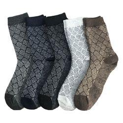 5 пар, мужские винтажные вязаные носки из искусственной шерсти, теплые носки с цветными полосками, 2019