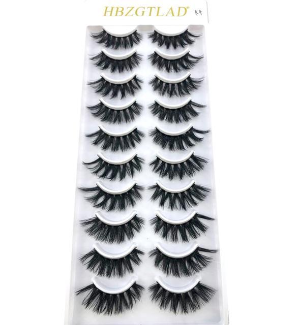 2019 NEW 1/10 pairs 100% Real Mink Eyelashes 3D Natural False Eyelashes 3d Mink Lashes Soft Eyelash Extension Makeup Kit Cilios   american doll