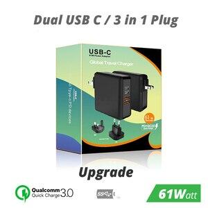 Image 2 - 61ワットusb cタイプc pd qc 3.0 4ポート高速充電器の電源アダプタmacbook proの空気のhpレノボasus xiaomi huawei社ラップトップタブレット