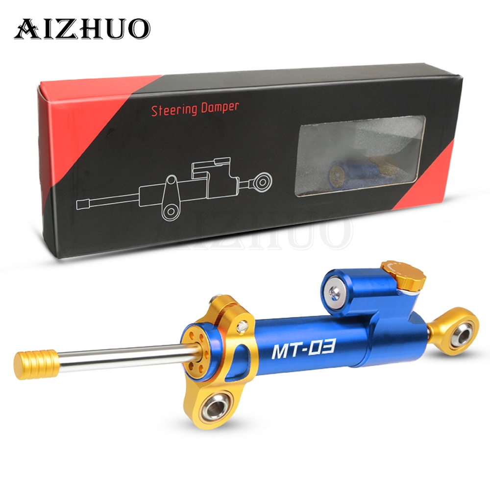 Universal Aluminum Motorcycle Damper Steering Stabilize Safety Control For YAMAHA MT03 <font><b>MT</b></font> <font><b>03</b></font> <font><b>MT</b></font>-<font><b>03</b></font> 2005-2019 <font><b>2018</b></font> 2017 2016 2015 image