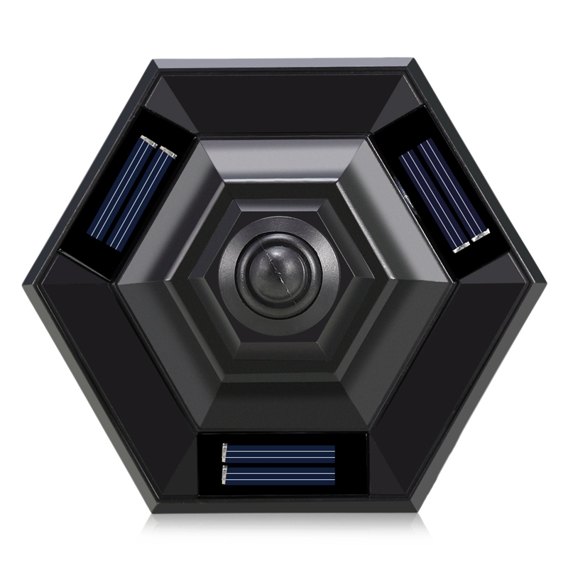 powered hexagonal caminho luz da noite ip65 03