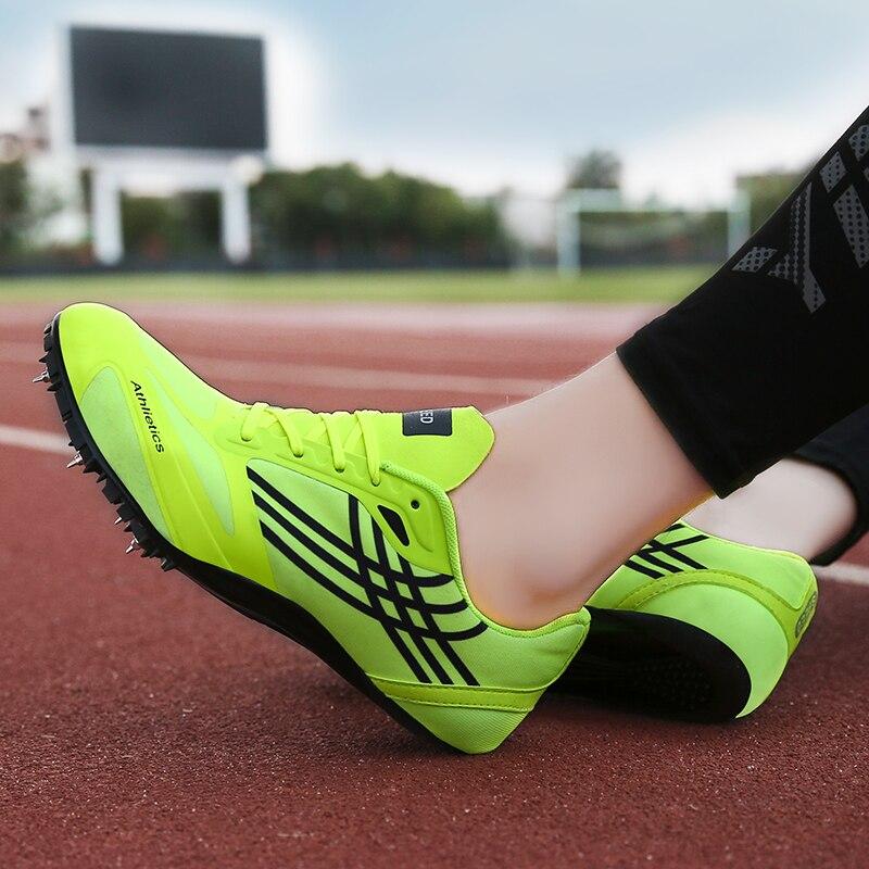 Новая спортивная обувь для тренировок и тренировок для мужчин и женщин, Профессиональная беговая Беговая беговая Обувь, мягкие шипы, кроссовки 35-45