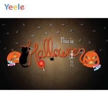 Yeele Halloween Horror Fade Pumpkin Cat Bat Party Photography Backdrops Personalized Photographic Backgrounds For Photo Studio