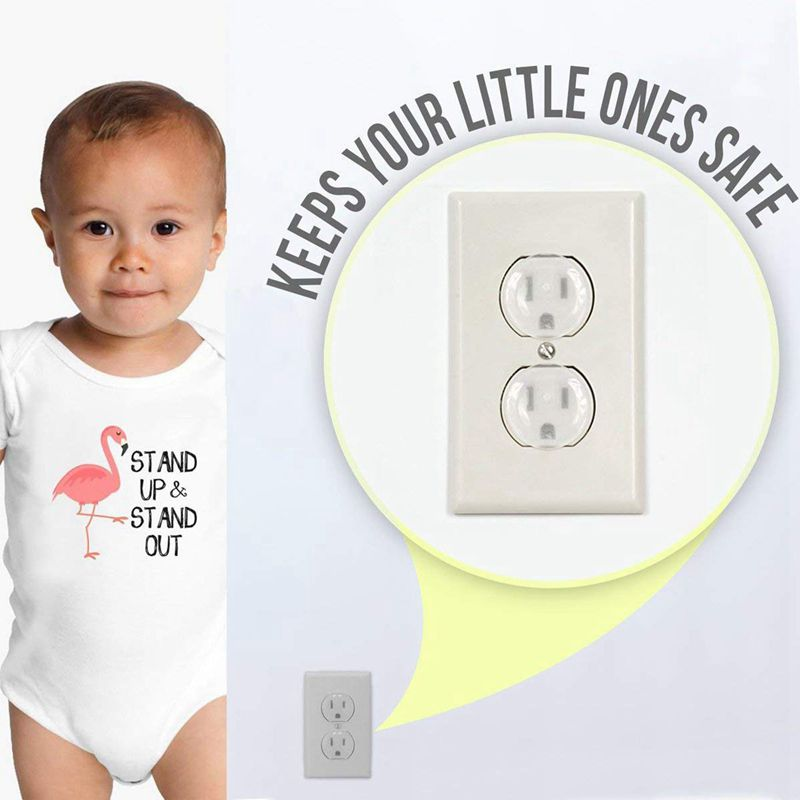Outlet Plug Covers (50 Pack) Ultra Clear Child Proof Electrical Protector Safety Caps Electrical Socket Covers