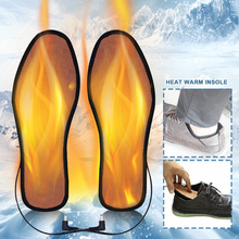 Winter Foot Pads Washable Heating Insole Unisex USB Powered Electric Insert Comfortable Keep Warm Boots Insoles Carbon Fiber
