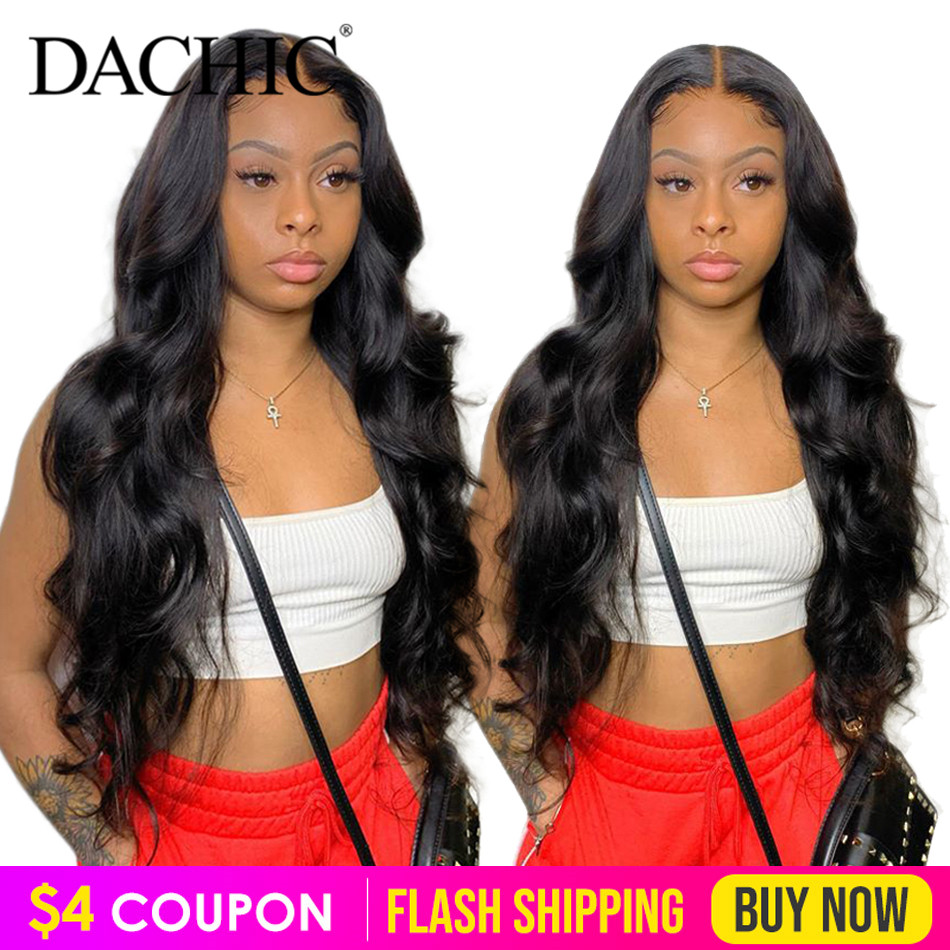 Body Wave Lace Front Human Hair Wigs Pre Plucked 13x4 150% Brazilian Remy Lace Frontal Wig For Black Women Full And Soft
