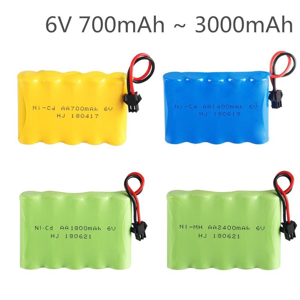 6.0V NI-MH Battery NI-CD Battery 700mAh 1400mAh 1800mAh 2400mAh 2800mAh For RC Toys Cars Trucks Tank Guns RC TOYS 6V