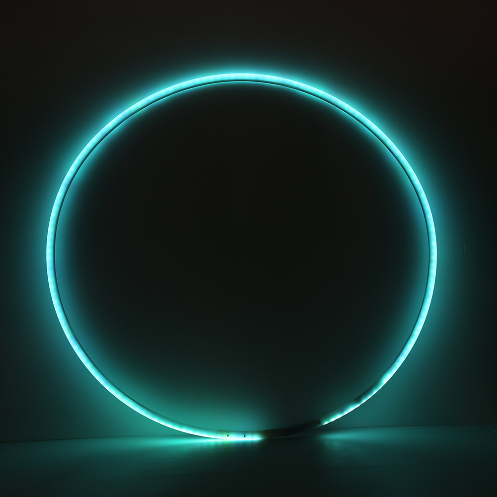 Hot Sale Sport Hoops Delicate Design LED Lighting Circle Bluetooth Rechargeable Pilates Yoga Dance Ring Fitness Tool