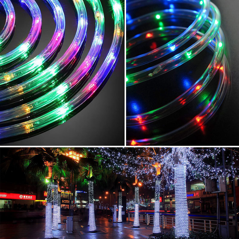 cheapest 12m 100Led Garland Solar String Lights Rope Tube Lighting for Home Garden Christmas Lamp Lawn Decoration Solar Power Lights