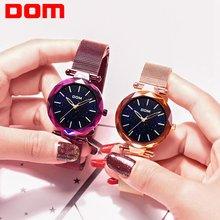 Dom брендовые Роскошные женские кварцевые часы минимализм модные