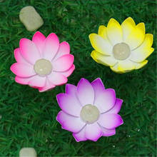 Outdoor Floating Lotus Candle Holder Light Pool Pond Garden Water Flower Candlestick Votive Holder 1pieces(China)