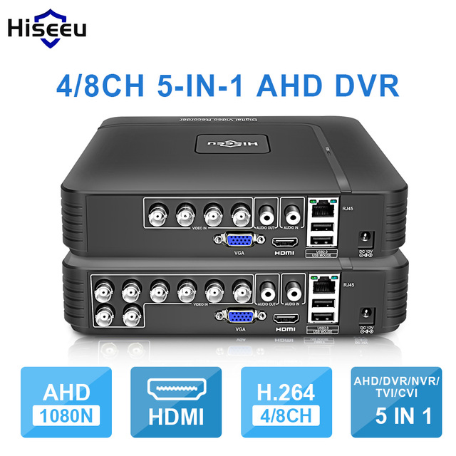 AHD 1080N 4CH 8CH CCTV DVR מיני DVR 5IN1 עבור CCTV ערכת VGA HDMI אבטחת מערכת מיני NVR עבור 1080P IP המצלמה Onvif DVR PTZ H.264