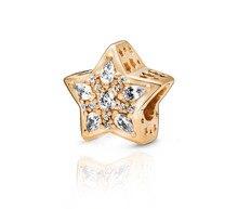 2019 winter New 925 Sterling Silver Beads Shine Celestial Star Charms Pendant fit Original Pandora Bracelets DIY women Jewelry