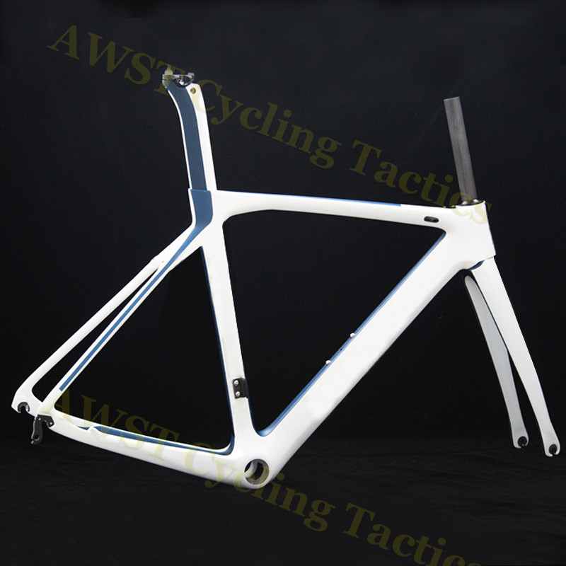 Customized Di2 Road Bicycle Carbon Frame Carbon V Brakes Road Bike Frame Di2 Carbon Fibre Road BSA Frame Suitable