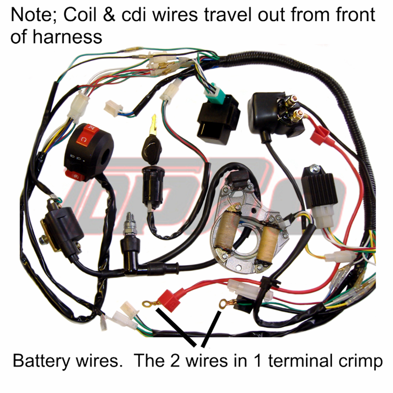 Motorcycle & ATV 8 parts Necaces Electrics Stator Coil CDI Wiring ...