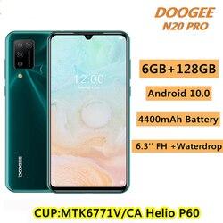 Смартфон DOOGEE N20 Pro, 6,3 дюйма, FHD + дисплей, Android 10, глобальная версия, четырёхъядерная камера, 4400 мАч, 6 ГБ ОЗУ, 128 Гб ПЗУ