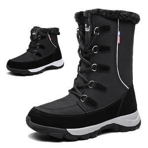 Image 1 - TKN קרסול מגפי נשים נעלי 2019 החורף אמיתי טריזי עור שלג מגפי שרוכים פלטפורמת מגפי פרווה מגפיים גבירותיי 1621