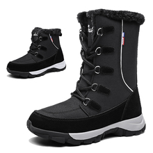 TKN Ankle boots women shoes 2019 winter genuine leather wedges snow boots female lace up platform boots fur boots ladies 1621