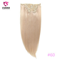 VSR 100g 120g 150g Machine Remy clip Hair Silky 100 human ha
