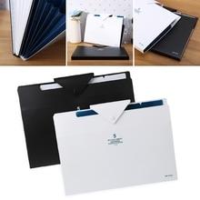 5 Layer Expanding File Folder Organ Bag A4 Organizer Paper Holder Document Stationery File Folder цена