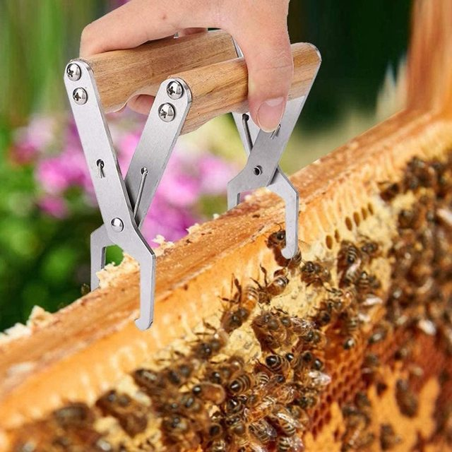 Wooden Bee Hive Frame Holder Grip Tool for Beekeeping 2