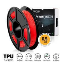 3D Printer Filament TPU 0.5kg Flexible Red Color Diameter 1.75mm Tolerance +/-0.02mm 100% No Bubble Non-toxic Printing Material