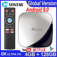 TV BOX Android 9,0 Smart TV caja de X88 Pro 4GB RAM 32 GB/64 GB/128GB ROM Android TV BOX 4K 60fps RK3318 TVBOX Google Netflix Youtube