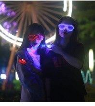 Led Night Eyewear Fashion Glasses Luminous Party Decorative Lighting Classic Gift Bright Light Festival
