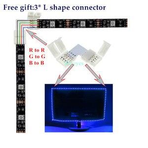 Image 5 - SMD 5050 RGB LED Strip DC 5V USBไฟLED Stripยืดหยุ่นIP20 IP65เทปกันน้ำ1M 2M 3M 4M 5Mเพิ่มRemoteสำหรับพื้นหลังทีวี