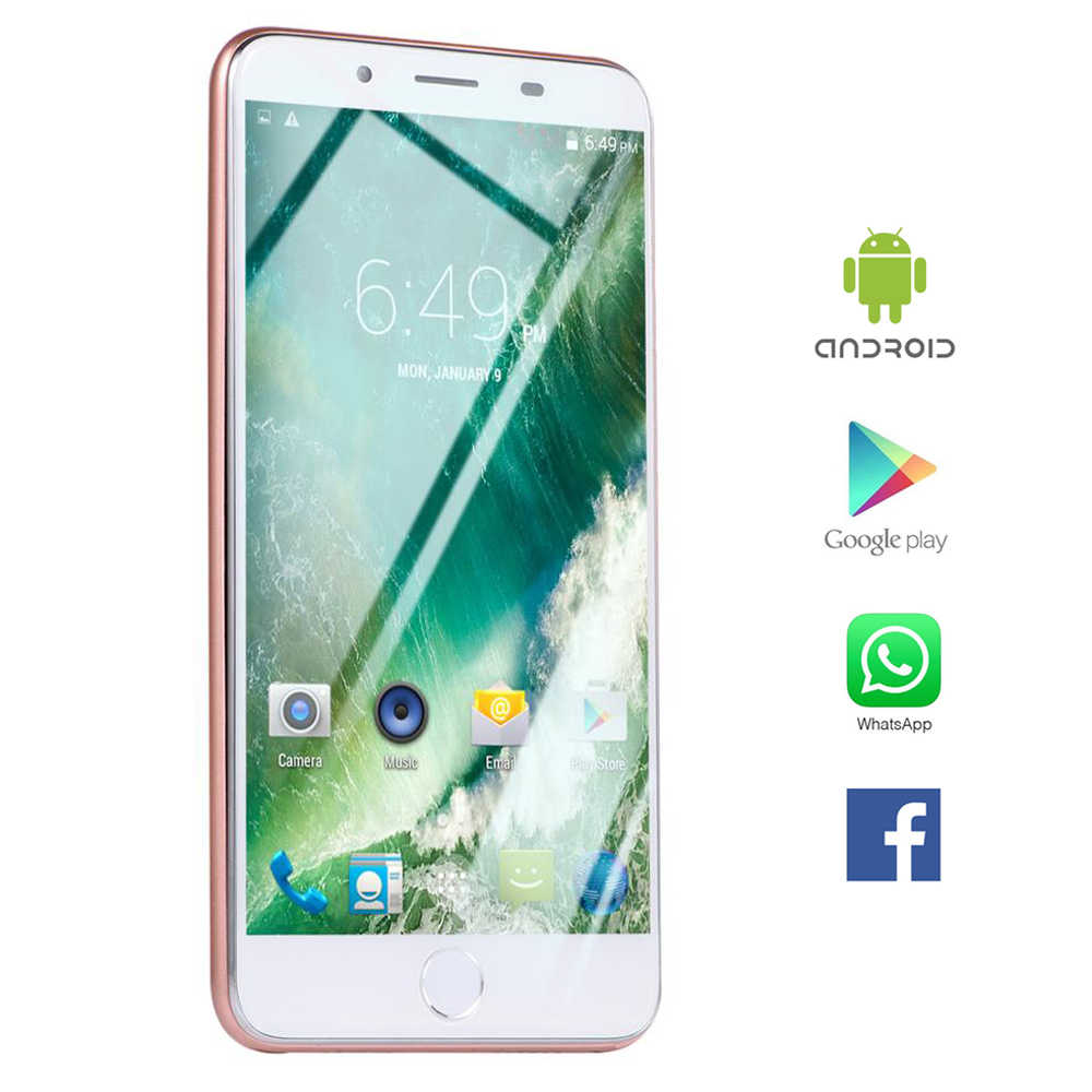 "Global Firmware B 7 Plus téléphone intelligent 5.5 ""pouces Fullview Android OS smartphone empreinte digitale visage ID 3.5mm jack multi-langue mobi"