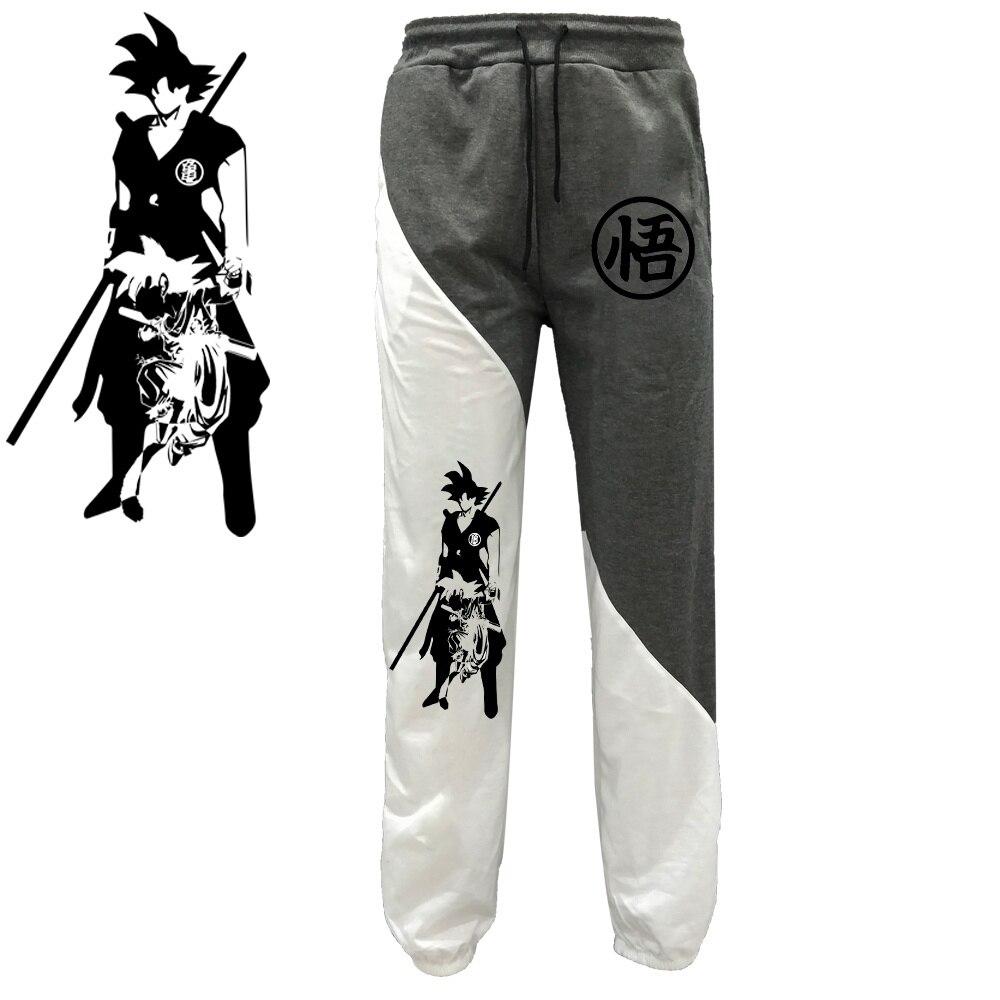 New Male Japanese Anime Dragon Ball Z Print Mens Fashion Casual Breathable Sweat Beach Jogger Jogging Long Pants