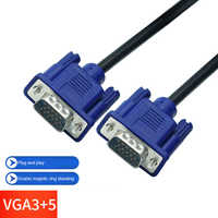 1.5m to 15m Computer Monitor VGA Extension Cable VGA Cable HD 15 Pin Male to Male VGA Cable full Copper conductor for Laptop PC