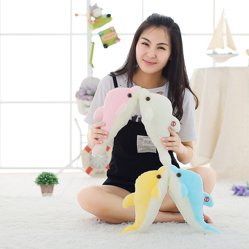 Image 4 - 32cm Creative Luminous Plush Dolphin Doll Glowing Pillow, Colorful LED Light  Animal Toys Kids Children's Gift YYT220-in Stuffed & Plush Animals from Toys & Hobbies