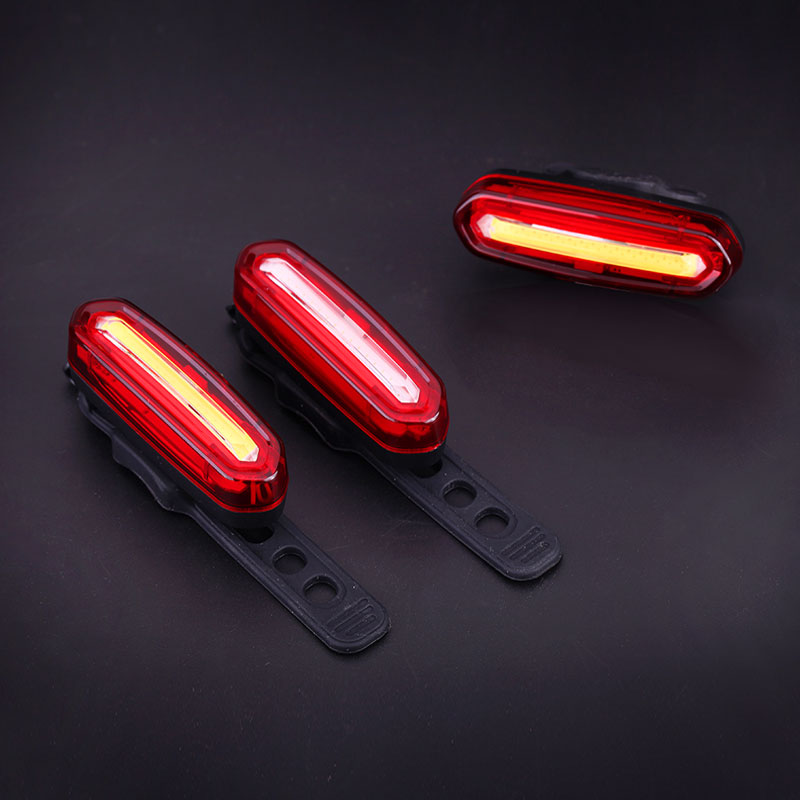 LED USB Rechargeable MTB Safety Warning Bicycle Rear Light Tail Light