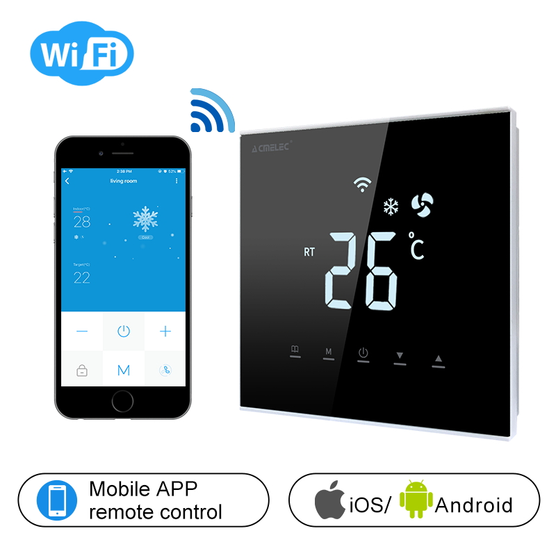 Touch Screen LCD Temperature Regulator Central Air Conditioner WIFI Thermostat APP Control Temperature AE-XB-K