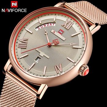 NAVIFORCE 3006 Top Brand Luxury Men Quartz Watches Stainless Steel Waterproof Watches with box