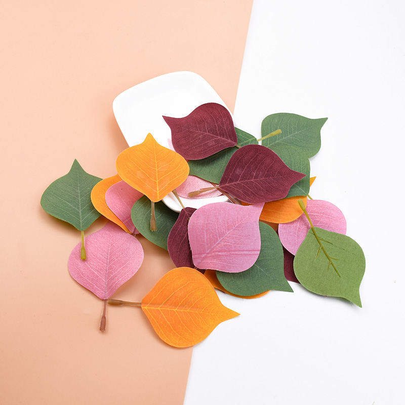 10/30pcs Wedding Leaves Diy Gifts Box Festive Supplies Garland Christmas Decorations For Home Silk Leaf Artificial Plants Cheap