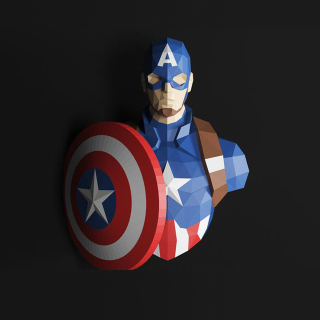 70cm Hulk 3D papel modelo Spiderman Iron Man Batman y Deadpool Capitán América Papercraft figuras de acción puzles juguetes de niños regalo