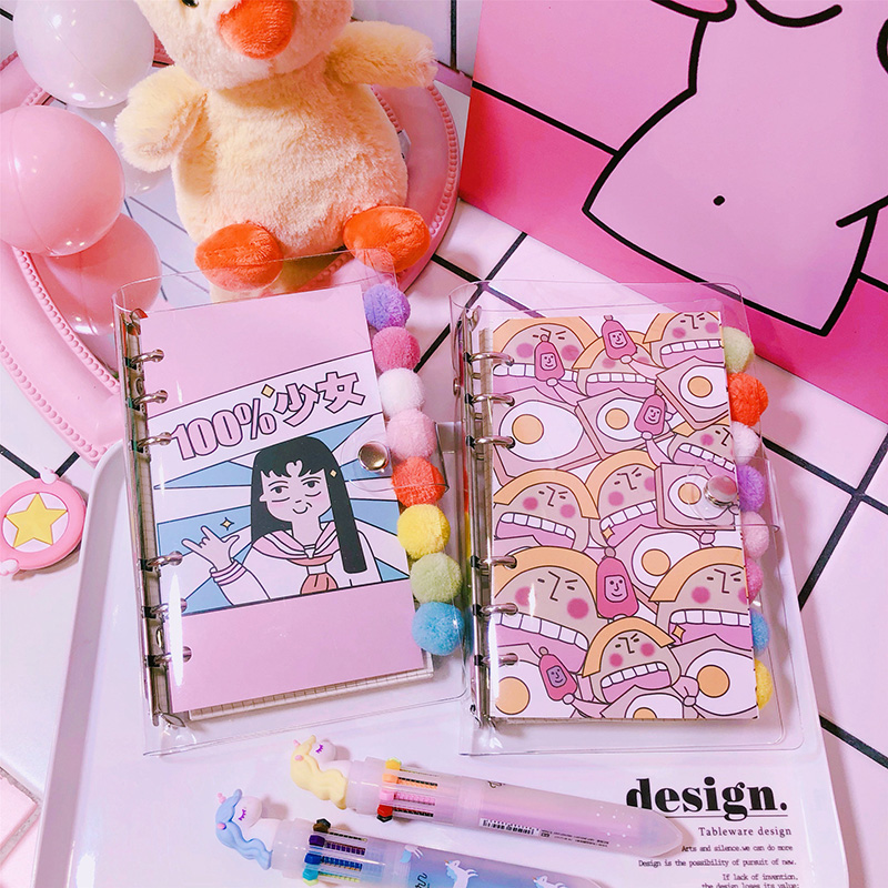 A6 Cute Girl Diary Organizer Kawaii Notebook Agenda 2020 Korean Planner Binder Bullet Diary Weekly Plan Stationery Gift School