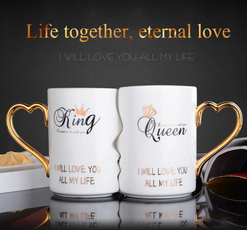Couple tasses une paire de tendances créatives coréen tasses personnalité eau tasses tasses en céramique se marier et donner des cadeaux pour les anniversaires
