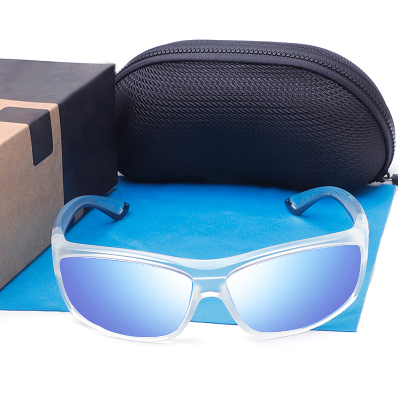 BRAND DESIGN Saltbreakr 580P Polarized Sunglasses Men Mirror Fishing Eyewear Square Sunglasses Male Goggle UV400 Oculo With Logo
