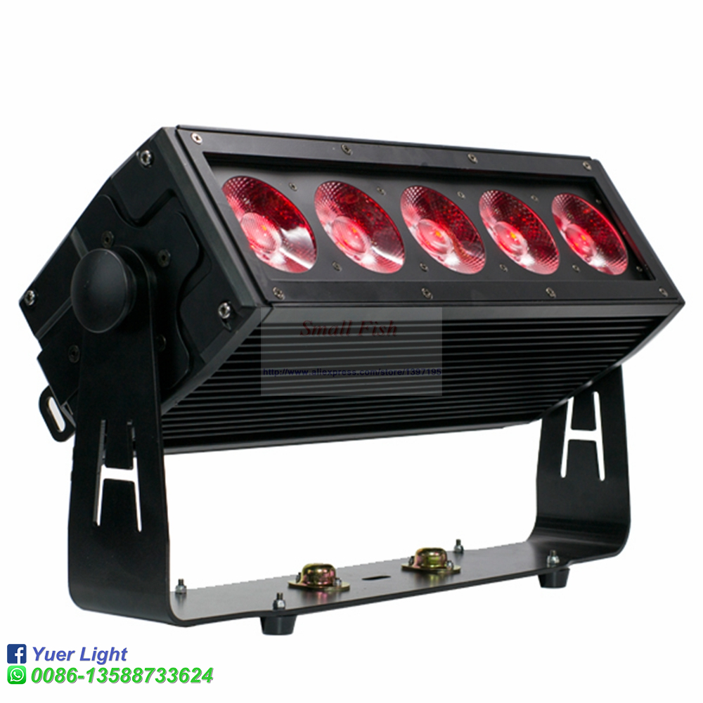 5x20W Waterproof LED RGB 3IN1 Wall Wash Light DMX Sound Led Bar For Indoor and Outdoor Party Wedding Church Disco DJ Stage in Stage Lighting Effect from Lights Lighting